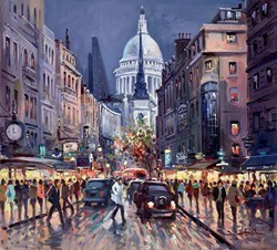 London Evening by Henderson Cisz -  sized 20x18 inches. Available from Whitewall Galleries
